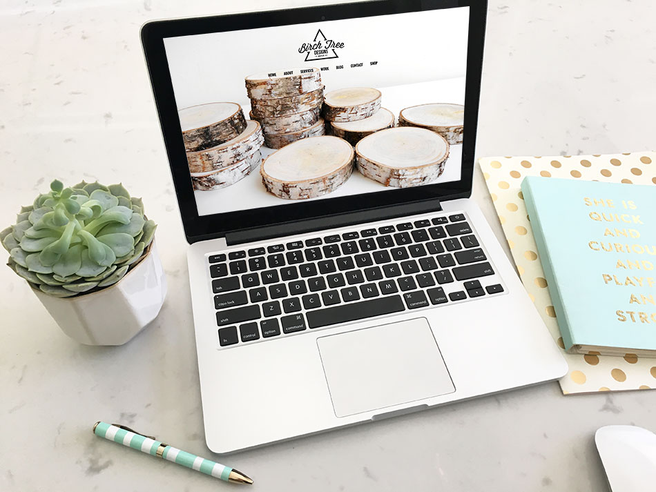 Sea Salt Web design firm Whistler laptop