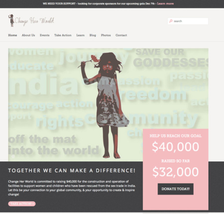 Change Her World Website