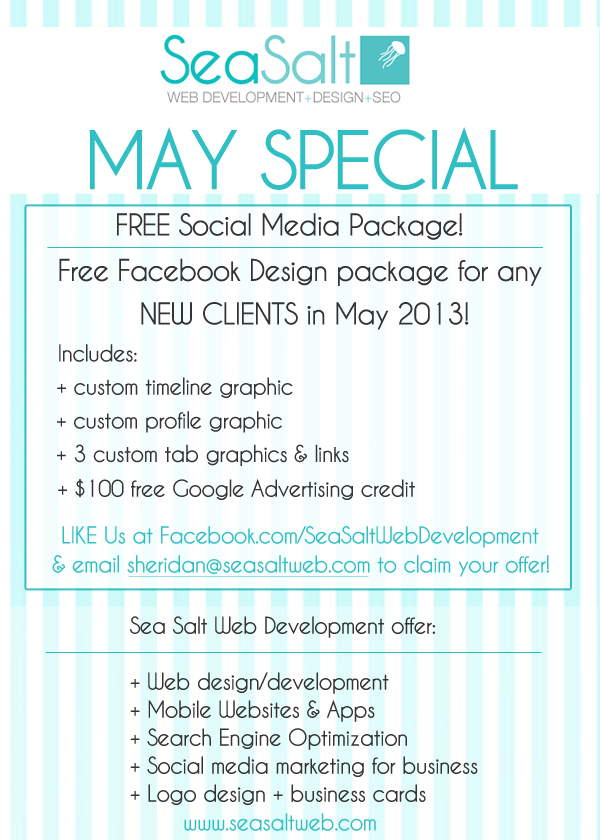 May Special Free Facebook Graphics for your business!