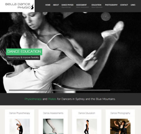 Bella Dance Physio Website