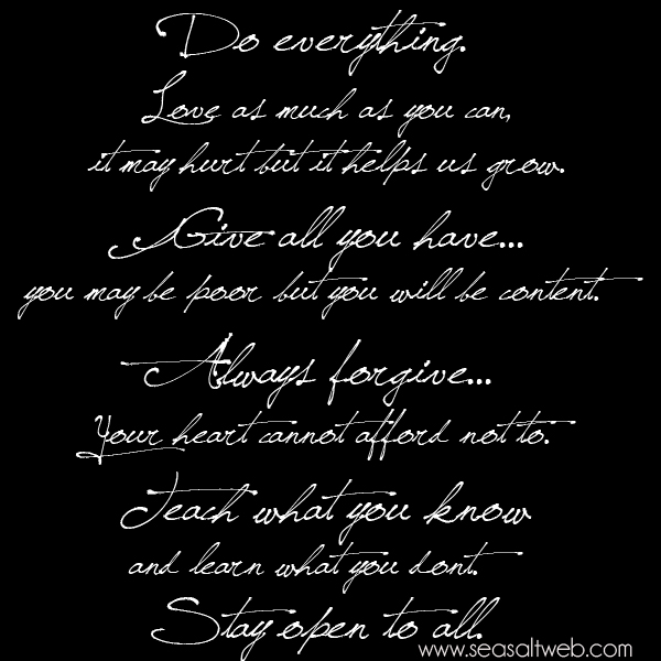 Inspirational Quote Sea Salt Motivational Monday do everything quote