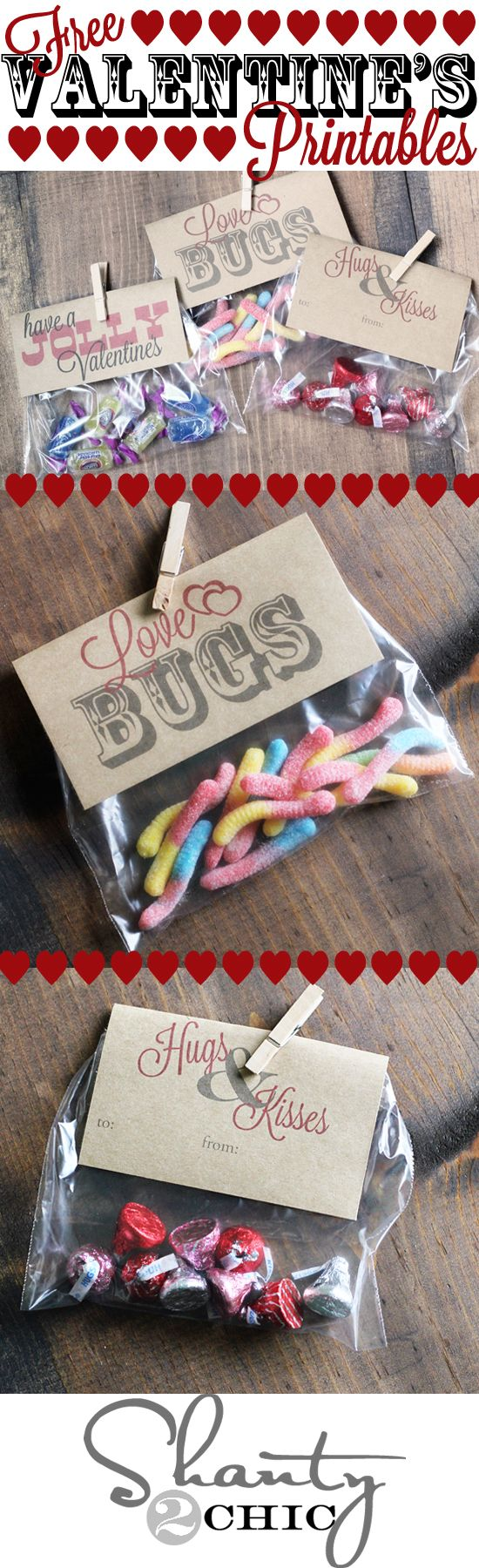 Valentines day ove bug free printables Sea Salt Web