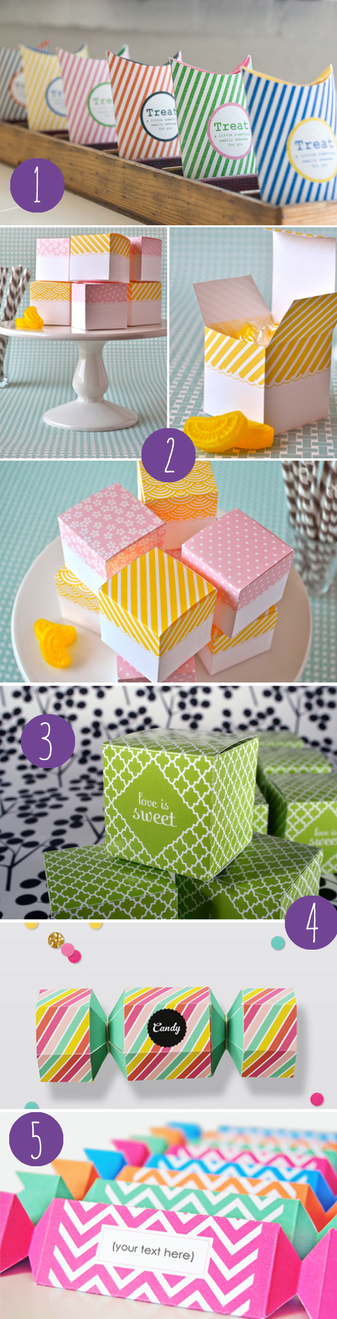 free printable favor boxes for Valentines Day candy