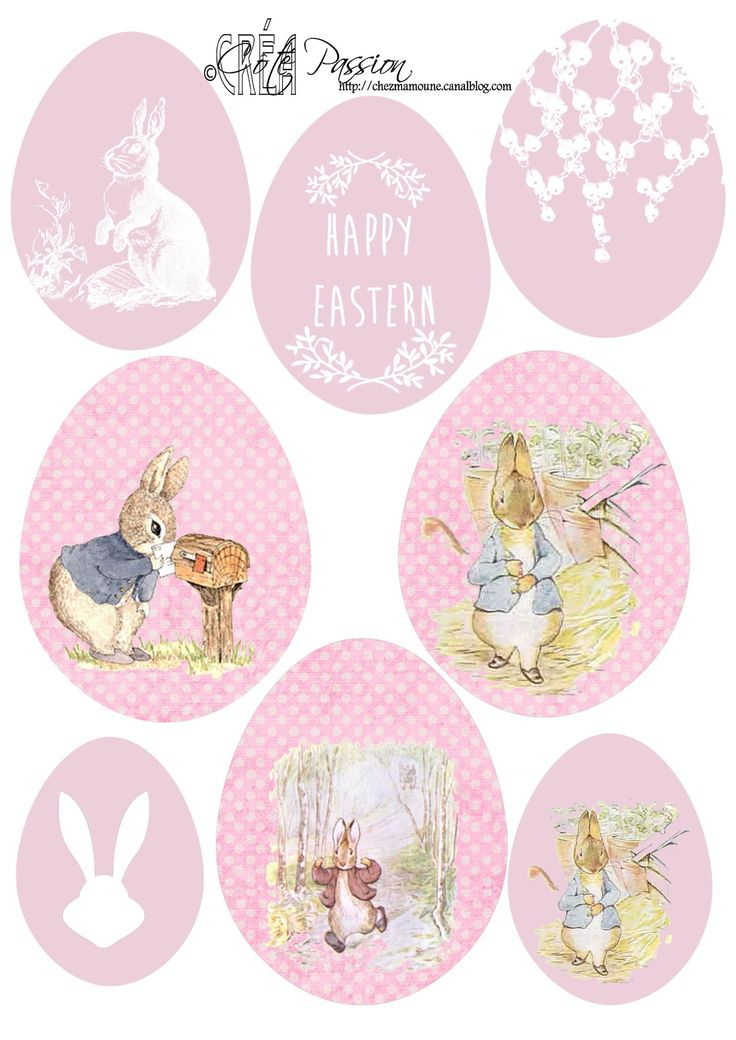 cute pink easter tags printables