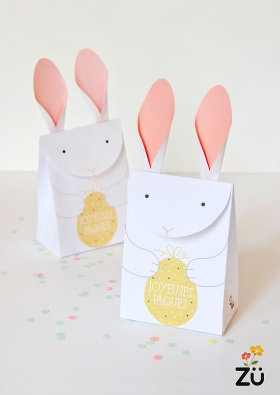 cute bunny easter giftbox diy