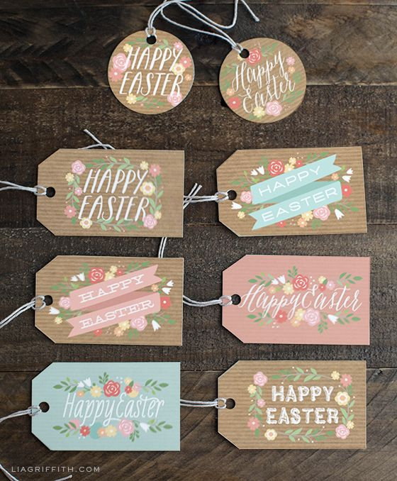 free easter gift tags cards