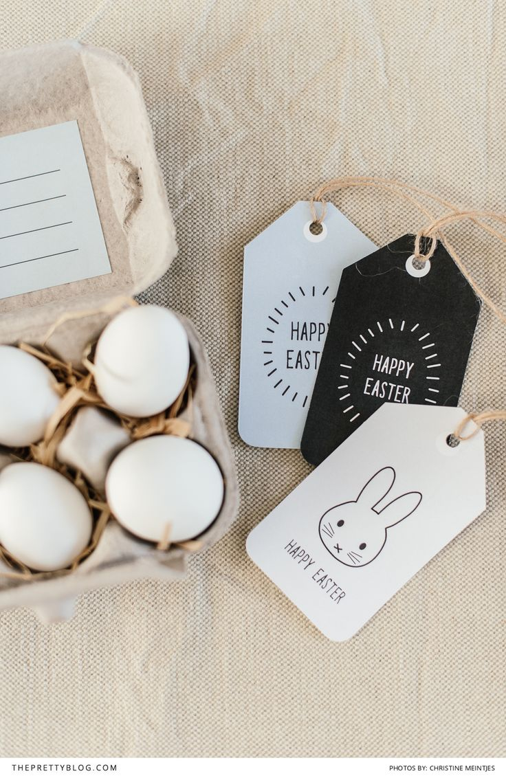 free easter tags printables with cute bunny