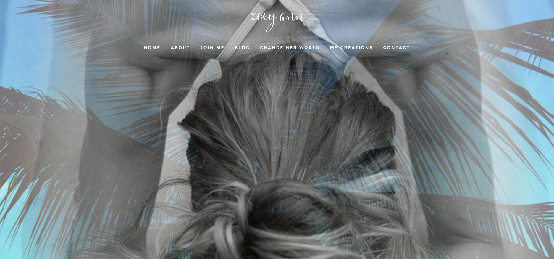 Website design by Sea Salt Web Whistler for Zoey Ann yoga