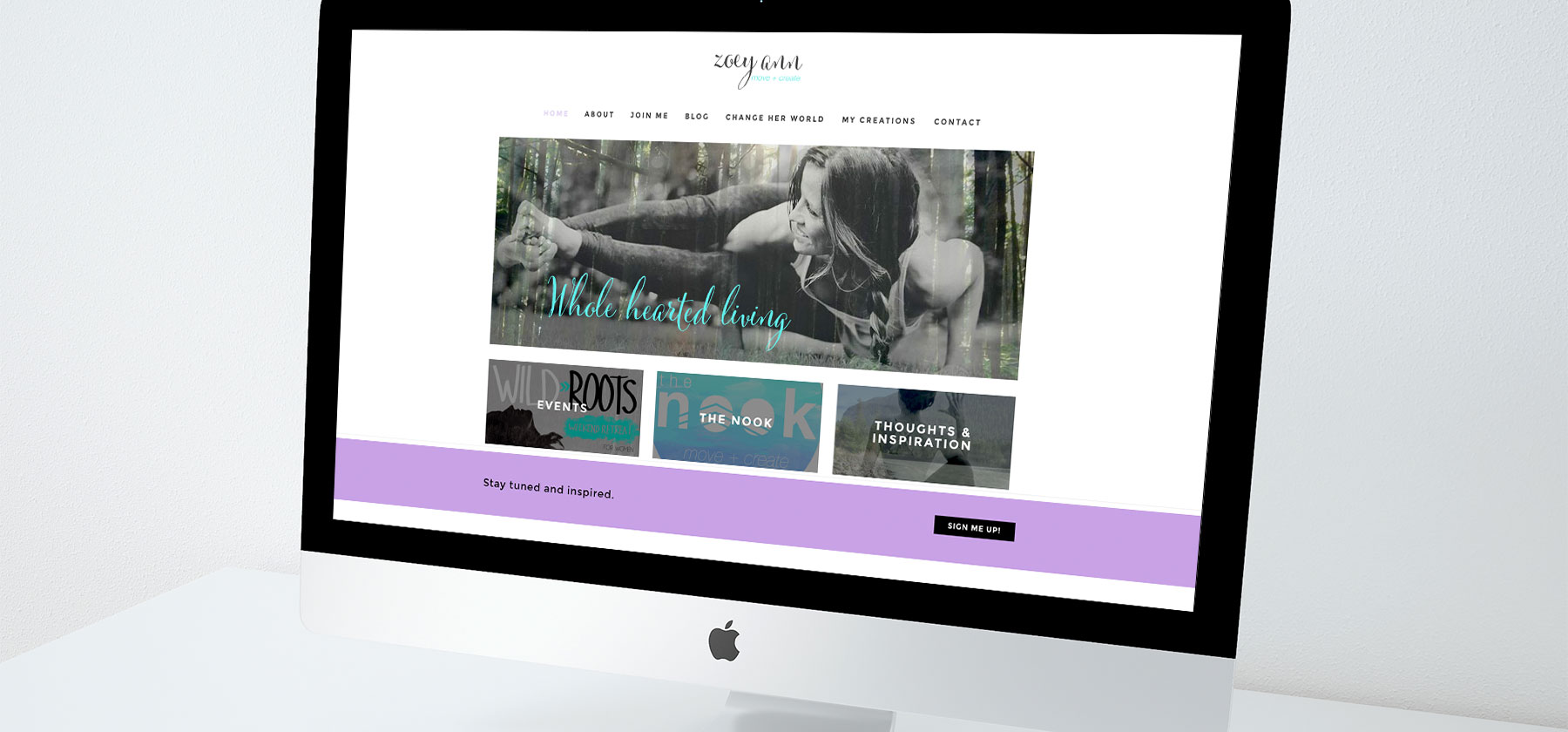 Sea Salt Web Whistler website design Zoey Ann Yoga