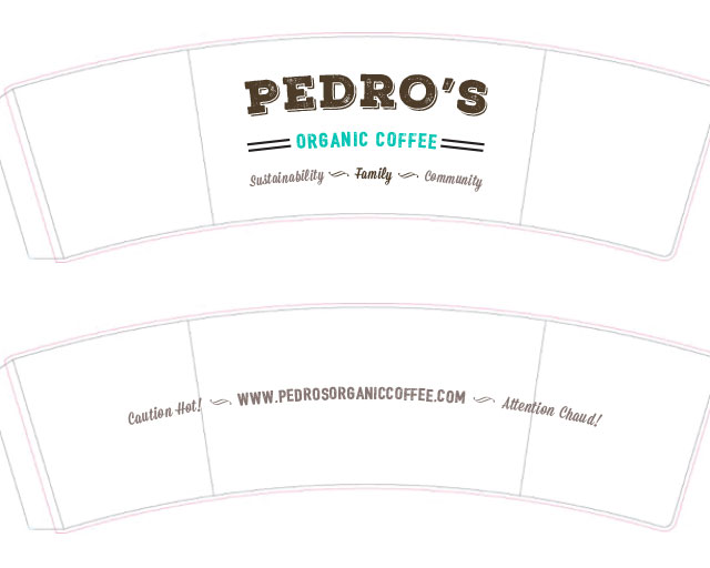 Sea Salt Web Design agency Whistler Pedros coffee sleeves design